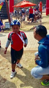 Our active weekend as a family, Running, Cycling and the Circus