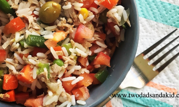 SUPERDAD'S FABULOUSLY FAST TUNA RICE SALAD