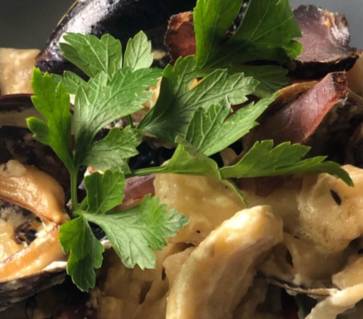 HOMEMADE PASTA WITH BILTONG AND MUSSELS